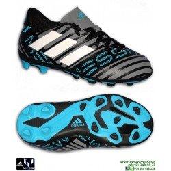 Adidas NEMEZIZ MESSI 17.4 Niños Gris-Negro Bota Futbol Tacos CP9211