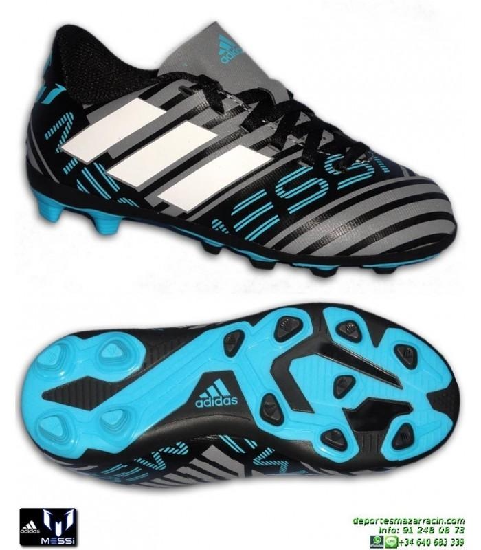 Adidas NEMEZIZ MESSI 17.4 Niños Gris-Negro Bota Futbol Tacos CP9211 d1d939d69602c