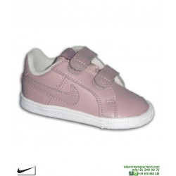 Zapatilla Infantil Nike COURT ROYALE (TDV) Niñas Rosa cierre Velcro Deportiva clasica niños 833537-602