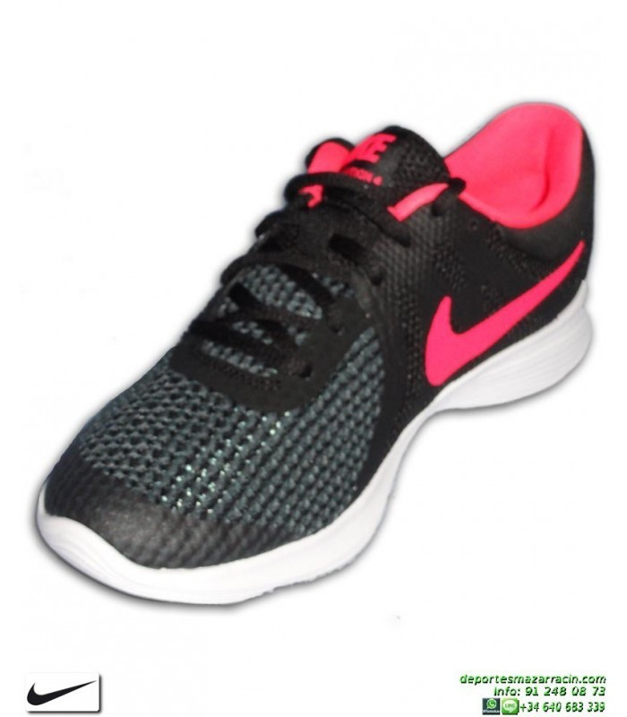 Zapatillas Nike Revolution 4 GS Negro Rosa