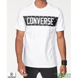 Camiseta Converse STAR BLOCK Blanco 10006753-A01 hombre