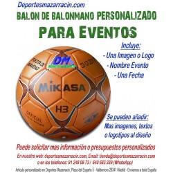 Balon de Balonmano PERSONALIZADO Para Eventos Logotipo imagen y Nombre