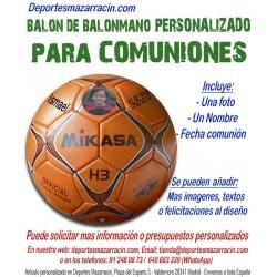 Balon de Balonmano PERSONALIZADO Para comunion imagen foto nombre fecha
