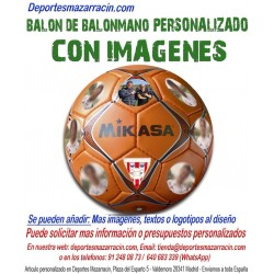 Balon Balonmano PERSONALIZADO con imagen foto escudo equipo