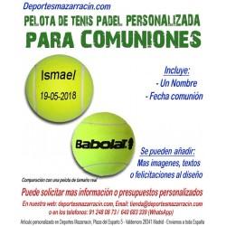 Pelota Tenis Padel PERSONALIZADA Para Comuniones Nombre fecha