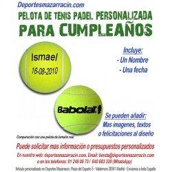 Pelota Tenis Padel PERSONALIZADA Para Cumpleaños Nombre fecha