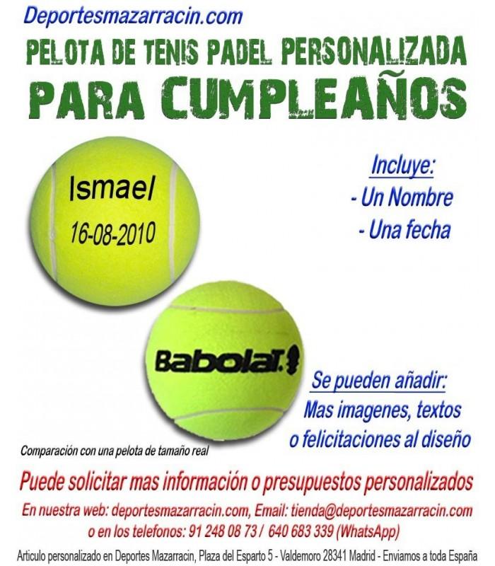 4d794ff5e Pelota Tenis Padel PERSONALIZADA Para Cumpleaños Nombre fecha