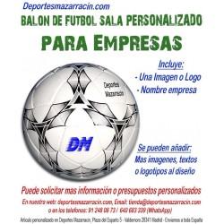 Balón de Futbol Sala PERSONALIZADO Para Empresas  Logotipo imagen Nombre mikasa FSC62S