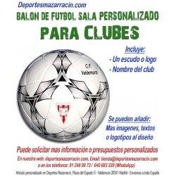 Balón de Futbol Sala PERSONALIZADO Para clubes Logotipo escudo Nombre mikasa FSC62S