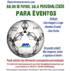 Balón de Futbol Sala PERSONALIZADO Para eventos Logotipo imagen Nombre Evento fecha mikasa