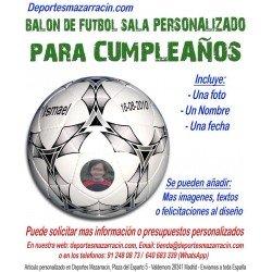 Balón de Futbol Sala PERSONALIZADO Para cumpleaños Imagen foto Nombre fecha mikasa FSC62S