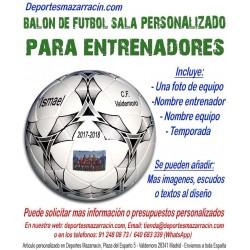 Balón de Futbol Sala PERSONALIZADO Para entrenador Imagen foto Nombre entrenadores equipo fecha