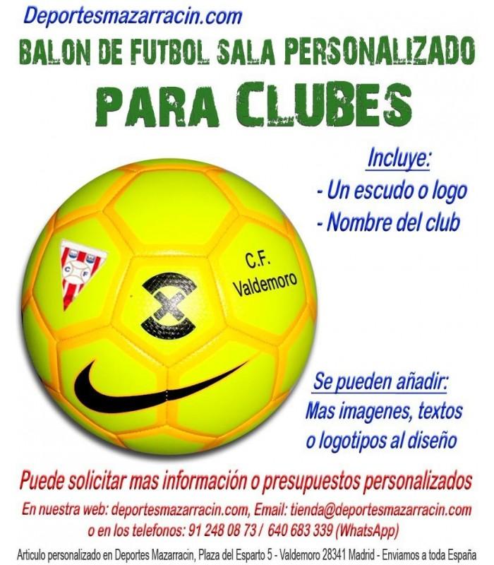 Balón de Futbol Sala PERSONALIZADO Para clubes Nombre escudo Club cff8829773cef