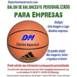 Balón de Baloncesto PERSONALIZADO Para Empresas imagen Logotipo Nombre Adidas All court