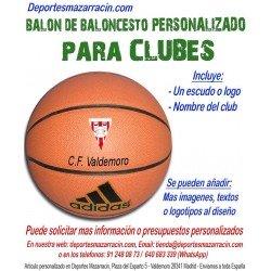 Balón de Baloncesto PERSONALIZADO Para clubes Logotipo escudo Club Nombre Adidas All court