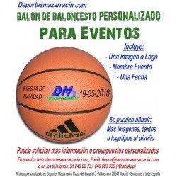 Balón de Baloncesto PERSONALIZADO Para eventos Logotipo imagen Nombre fecha Adidas All court