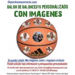 Balón de Baloncesto PERSONALIZADO con imagenes foto logotipo escudo Adidas All court