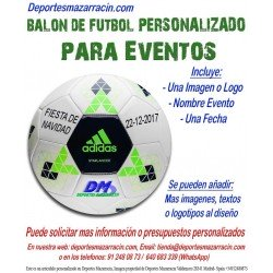 Balon Futbol PERSONALIZADO Para Eventos Adidas Logotipo imagen Nombre fecha starlancer B10545