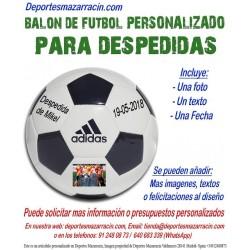 Balon Futbol PERSONALIZADO Para despedidas soltero EPP Logotipo imagen Nombre Evento fecha Adidas CD6577