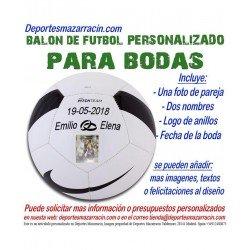 Balon Futbol PERSONALIZADO Para bodas nike Imagen pareja Nombres novios anillos fecha pitch SC3166-100