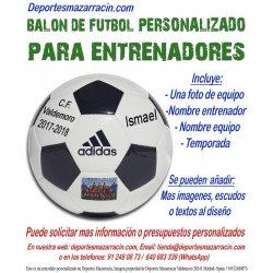 Balon Futbol PERSONALIZADO Para entrenador EPP Imagen foto Nombre equipo fecha temporada Adidas CD6577