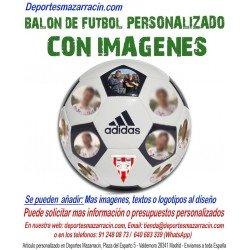 Balon Futbol PERSONALIZADO Con Imagenes EPP foto escudo logotipo equipo Adidas CD6577