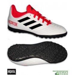 new product bc955 d6bd2 Adidas PREDATOR TANGO 18.4 Niños Blanca Zapatilla Microtaco TURF CP9096