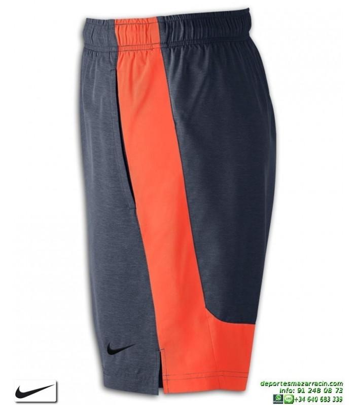e545b2cc720 Pantalon Corto NIKE Flex Training Shorts Gris-Naranja hombre 833271-471  Poliester DRIFIT bermuda