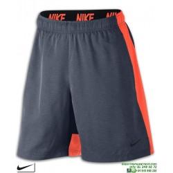 Pantalon Corto NIKE Flex Training Shorts Gris-Naranja hombre 833271-471 Poliester DRIFIT bermuda tenis padel