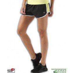 Short Running Mujer John Smith ARENZA Negro-Amarillo correr deporte poliester chica