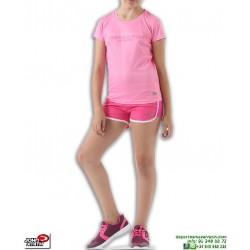Conjunto Camiseta Short Niña John Smith ABANO Rosa poliester pantalon corto