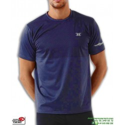 Camiseta Deporte JOHN SMITH AMOARO Azul Marino Hombre poliester elastico transpirable tenis padel gimnasio manga corta