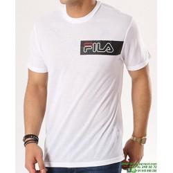 Camiseta FILA AGILE Blanco Algodon 682044-WHITE Hombre