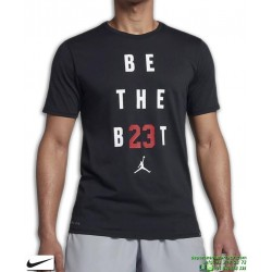Camiseta Jordan NIKE JMTC BE THE BEST Training Negro Algodon 895149-010 Hombre