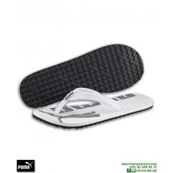 Chancla Puma EPIC FLIP v2 Blanco-Negro sandalia dedo hombre playa piscina 360248-08