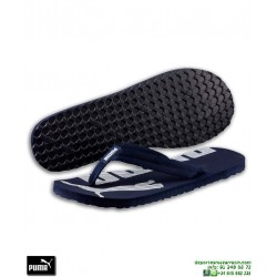Chancla Puma EPIC FLIP v2 Azul Marino-Blanco sandalia dedo hombre playa piscina 360248-08