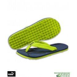 Chancla Puma EPIC FLIP v2 Junior Azul Indigo-Verde sandalia dedo niños playa piscina 360288-11