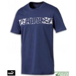 Camiseta PUMA ACTIVE HERO TEE Azul Marino Algodon Hombre 594955-50