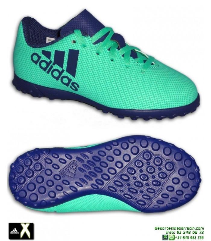 9a10f3865235e Adidas X Niño Tango 17.4 Verde Zapatilla Futbol Turf Minitacos CP9045 Bale  Luis Suarez