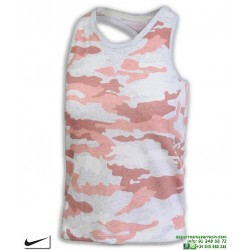 Camiseta Tirantes Mujer Nike SPORTWEAR VINTAGE Blanco-Rosa Vigore algodon 890557-697