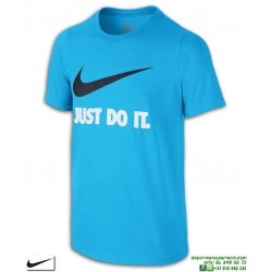 Camiseta Junior NIKE Just Do It Swoosh Training Azul 709952-483 manga corta niño