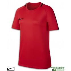 Camiseta Deporte Junior NIKE DRY ACADEMY TOP Poliester DRI FIT Roja 832969-653 manga corta