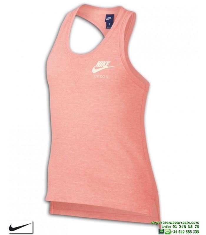 Chica Camiseta Vigore Mujer Rosa Nike Tirantes Sportwear Vintage 5jRLcA3q4