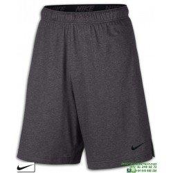Pantalon Corto NIKE Training Shorts Gris Vigore Hombre 842267-036 algodon Poliester DRI FIT bermuda tenis padel