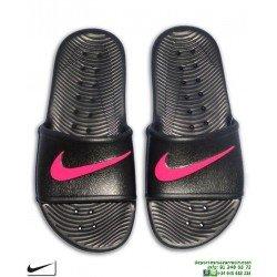Chancla Nike KAWA SHOWER Chica Negro-Rosa Sandalia mujer AQ0899-002 piscina playa chica
