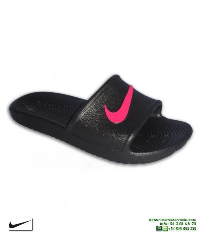 Rosa Nike Shower Chancla Chica Negro Kawa 34qjL5AR