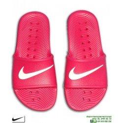 Chancla Nike KAWA SHOWER Chica Rosa-Blanco Sandalia mujer AQ0899-601 piscina playa chica