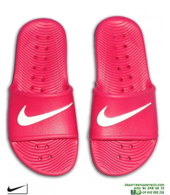 07388129bd2f1 Chancla Nike KAWA SHOWER Chica Rosa-Blanco
