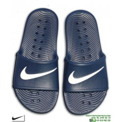 Chancla Nike KAWA SHOWER Junior Azul Marino-Blanco Sandalia pala junior AQ0899-401 piscina playa chico