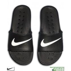 Chancla Nike KAWA SHOWER Negro-Blanco Sandalia pala unisex 832528-001 hombre piscina playa chico